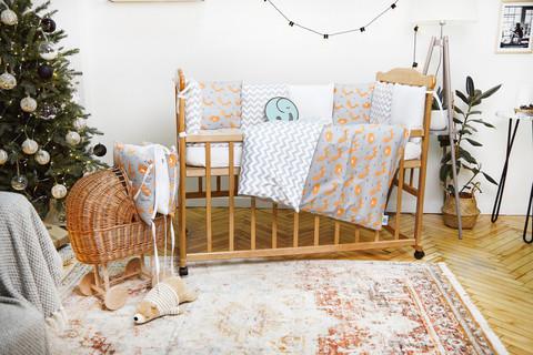 Комплект постельного белья для новорожденных с защитой-бортиками Верона - 2 Лисички