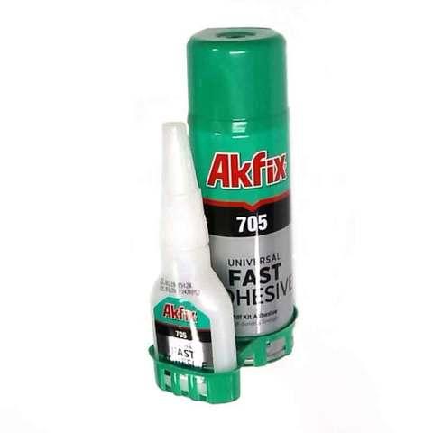 Супер Клей Akfix 705 50 гр  + 200 мл активатор