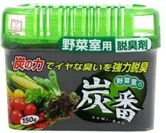 Дезодорант-поглотитель запахов, KOKUBO, для холодильника, овощей,  древесный уголь, 150 г