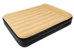 Кровать-матрас надувной Relax High Raised Air Bed Queen с электронасосом 203x157x47 бежевый