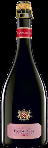 Игристое вино Сенной выдержанное Фанагория экстра брют розовое ЗНМП