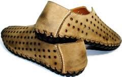 Летние мужские туфли с перфорацией Luciano Bellini 107703 Beige.