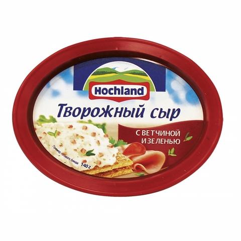 Сыр творожный HOCHLAND Ветчина Зелень 140 гр РОССИЯ