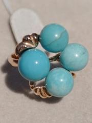 Дия (кольцо из серебра с позолотой)