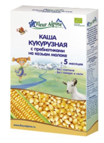 Каша Кукурузная с пребиотиками на козьем молоке Fleur Alpine