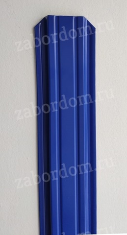 Евроштакетник металлический 85 мм RAL 5002 П-образный двусторонний 0.5 мм