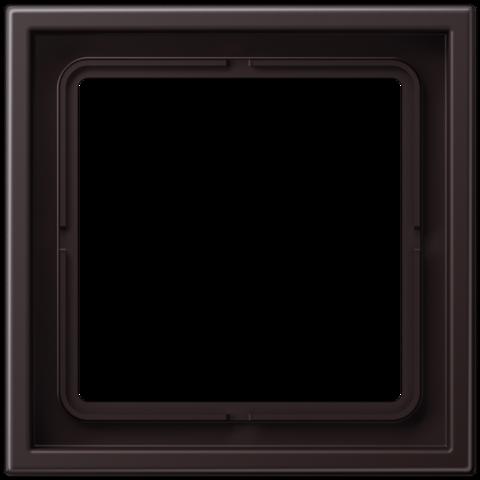 Рамка на 1 пост. Цвет Dark. JUNG LS ZERO. LSZAL981BFD