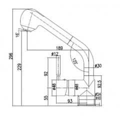 Смеситель KAISER Merkur 26066 для кухни с вытяжной лейкой схема