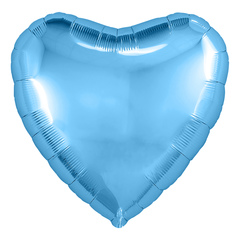 Аг 9''/23см, Мини-сердце, Холодно-голубой, / 5 шт. /