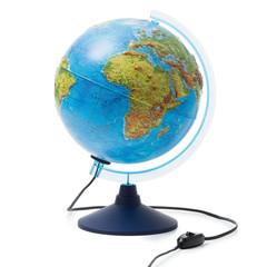 Глобус физико-политический рельефный с подсветкой 250 мм
