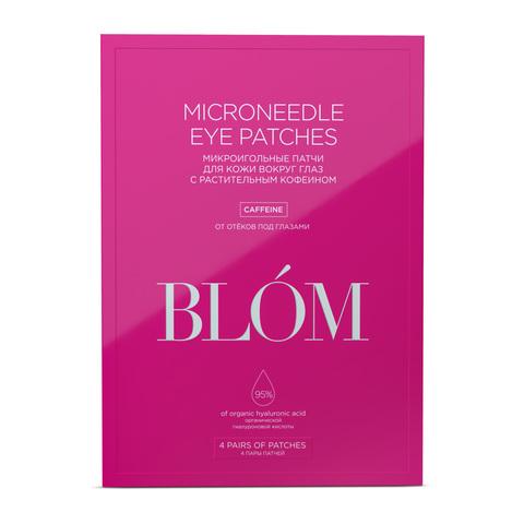 BLOM | Микроигольные патчи для кожи вокруг глаз с растительным кофеином / 4 пары