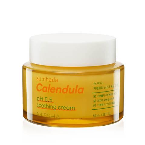 Missha Su:Nhada Calendula pH Balancing & Soothing Cream успокаивающий крем для раздраженной кожи