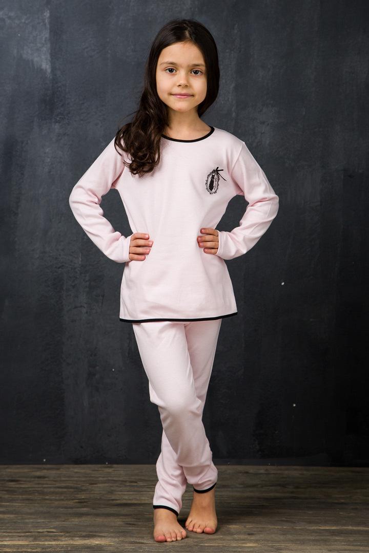 Розовый домашний костюм для девочек La Perla