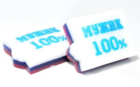 Мыльное ассорти/фигурное: 100%МУЖИК, 90 гр/шт