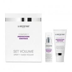 La Biosthetique Protection Cheveux Complexe: Набор для волос стабилизирующий с молекулярным комплексом: спрей, маска (Power Spray Complexe 3+ Power Mask Volume Complexe 3), 50мл+ 100мл