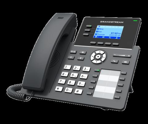 Grandstream GRP2604P - IP телефон (PoE, блок питания не входит в комплект). 6 SIP аккаунтов, 3 линии, есть подсветка экрана, (1GbE)Gigabit Ethernet, 10 BLF