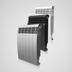 Алюминиевый радиатор Royal Thermo Biliner Alum Noir Sable 500 (черный)  - 12 секции