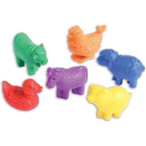 Развивающая игрушка фигурки Домашние животные (счетный материал, 6 элементов) Edx education, арт. 13200C