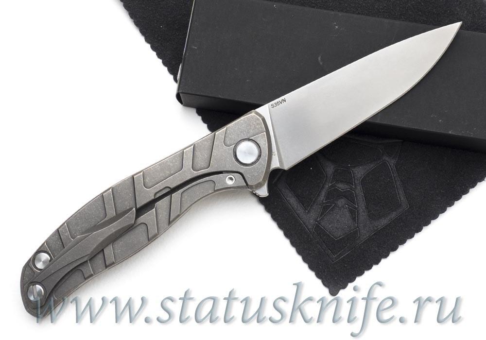 Нож Широгоров Flipper 95 S35VN узор T подшипники - фотография
