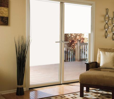 Миниролло для балконной двери светоотражающий Blackout белый