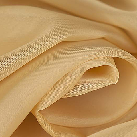 Ткань вуаль однотонная для штор - бежевая. Ш-300 см. Арт. -SH 6