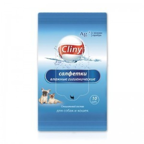 Влажные гигиенические салфетки Cliny 10 шт.
