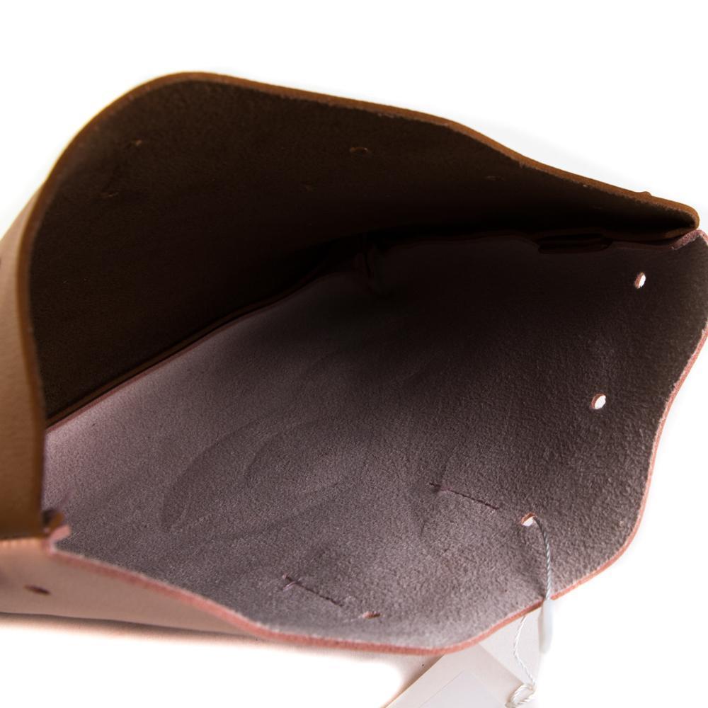 Сумка-мешок женская маленькая 23х20х4,5 см розово-коричневая 8366-3