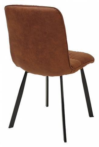Стул BUFFALO коричнево-рыжий винтажный, микрофибра PK-02 М-City (обеденный, кухонный, для гостиной), Материал каркаса: Металл, Цвет каркаса: Чёрный, Материал сиденья: Ткань, Цвет сиденья: Коричнево-рыжий, Цвет: Коричневый