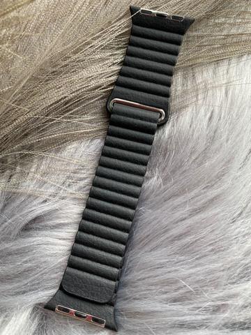 Ремешок Apple watch 38mm Leather Loop good /black/