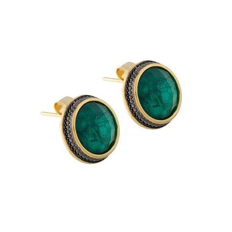 Пусеты Emerald A4018.17 G/G
