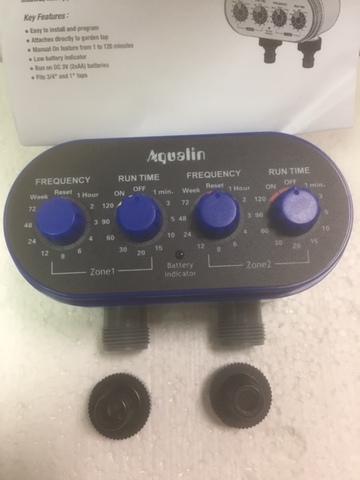 Электронный таймер для капельного полива с двумя выходами