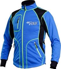 Утеплённая лыжная куртка RAY STAR WS blue-black 2018 лимонный шов