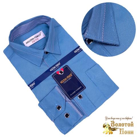 Рубашка рубчик мальчику (116-164) 210531-МР9641.1