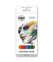 Карандаши цветные FANTASY 3554, 24 цвета