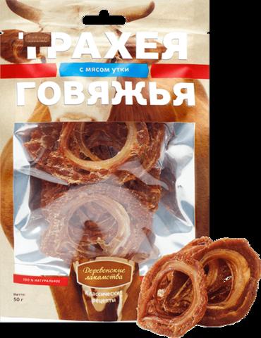 Деревенские лакомства Трахея говяжья с мясом утки - 50 г