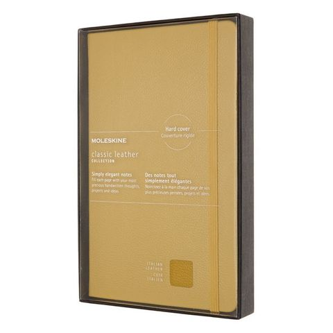 Блокнот Moleskine LIMITED EDITION LEATHER LCLH31HM17BOX Large 130х210мм натур. кожа 192стр. линейка твердая обложка желтый