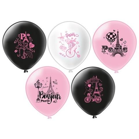 Воздушные романтические шары с гелием Париж