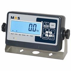 Весы платформенные MAS PM4P-2000-1515, LCD, АКБ, 2000кг, 500гр, 1500х1500, RS-232 (опция), стойка (опция), с поверкой, выносной дисплей