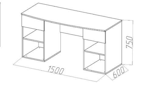 Письменный стол Лондон размеры