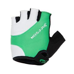 Велоперчатки JAFFSON SCG 46-0385 (чёрный/белый/зелёный)