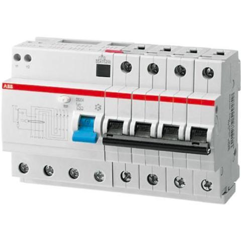 Дифф. автомат. выключатель 4-полюсный 10 А, тип A, 10 кА DS204 M A-B10/0,03. ABB. 2CSR274101R1105