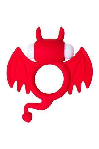 Красное эрекционное кольцо на пенис JOS COCKY DEVIL