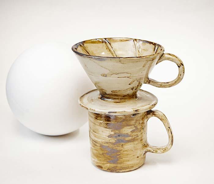 POSSET100-2 Набор керамики для заваривания кофе «Пуровер»: кружка и воронка дриппер фото 05