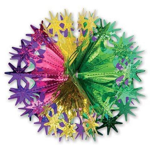 Фигура Шар-Звезды золото/зелен/фиол 30см