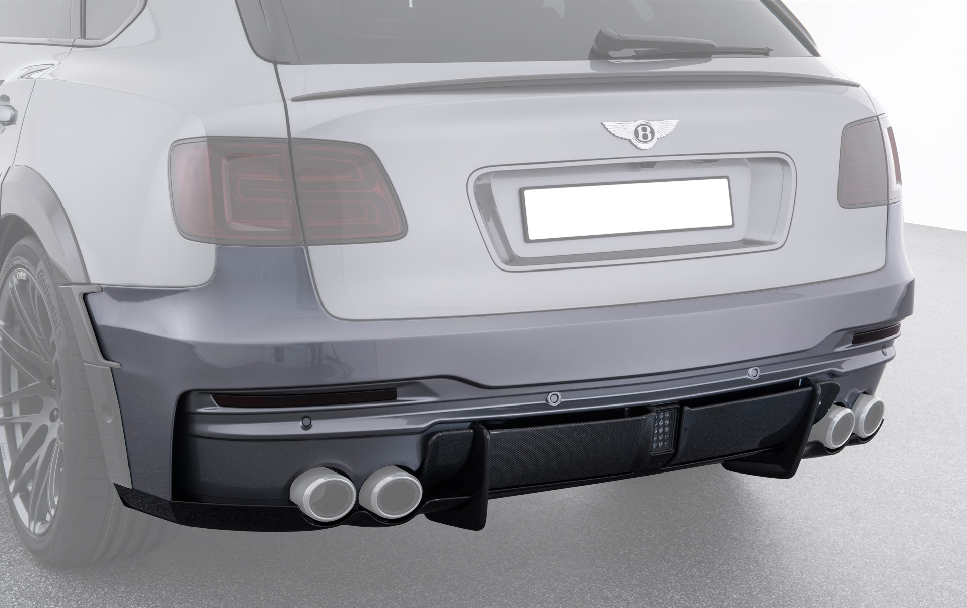 Карбоновый задний бампер Startech Style для Bentley Bentayga