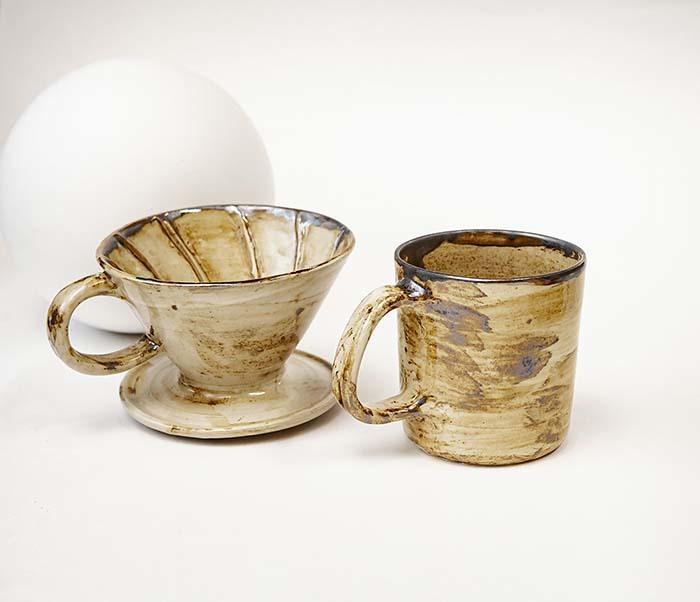 POSSET100-2 Набор керамики для заваривания кофе «Пуровер»: кружка и воронка дриппер