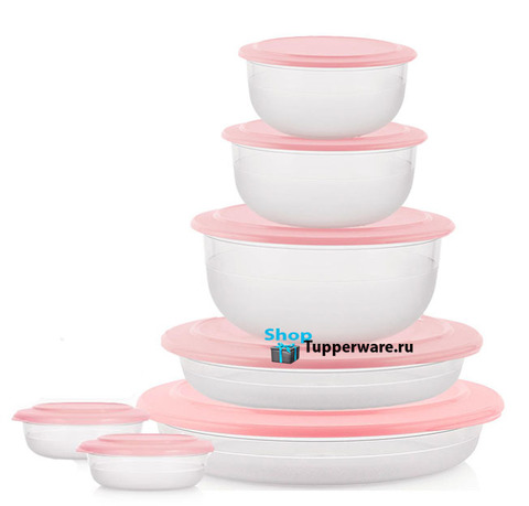 Набор Сервировочная коллекция (7 предметов) в розовом цвете