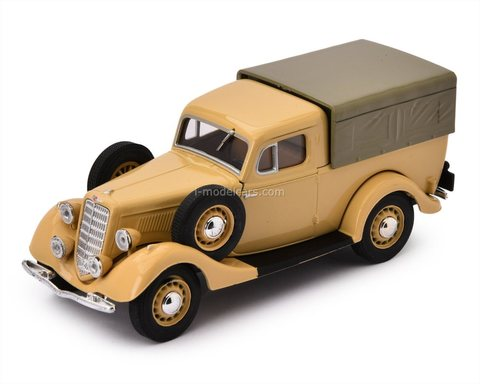 GAZ-M1 Pickup (Emka) with awning beige 1:43 Nash Avtoprom