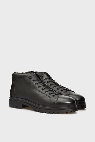 Мужские черные кожаные ботинки Kasper PRPY