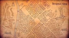 Интерьерный баннер Карта Янтарного города